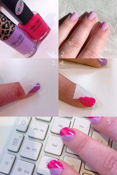 DIY Bold Nails DIY Nails Art #nails #nailart