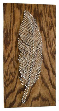 Diy Crafts Ideas : feather string art tutorial