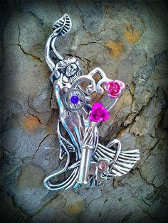 Pink Garden Goddess Fantasy Key by ArtbyStarlaMoore on Etsy, $20.00