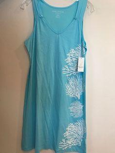 Nautica Woman's Night Gown Sleepwear Lounge Wear Aqua M Sleeveless #Nautica #Gowns #Everyday 15.96 + $3.77 s/h