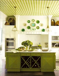 Seeing green in the kitchen.