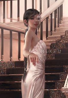 Video Games Girls, White Sleeveless Dress, White Dress, Female Character Design, Character Art, Princess Mononoke, Fantasy Girl, Fantasy Warrior, Anime Scenery