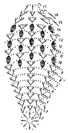 Szydełkowe Dziergadełka Nowak Katarzyna - Her Crochet Crochet Diagram, Basic Crochet Stitches, Crochet Chart, Crochet Motif, Crochet Doilies, Crochet Flowers, Crochet Ball, Crochet Home, Easter Crochet Patterns