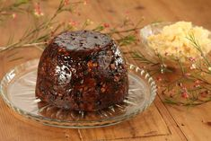 Christmas Pudding with Cumquat Brandy Butter - Maggie Beer Xmas Pudding, Christmas Pudding, Christmas Desserts, Christmas Baking, Christmas Recipes, Merry Christmas, Beer Recipes, Pudding Recipes, Gourmet Recipes