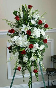 Memorable Flower Arrangement for Funeral - Flower - flower arrangements for a funeral Casket Flowers, Grave Flowers, Cemetery Flowers, Church Flowers, Funeral Flowers, Wedding Flowers, Send Flowers, Flowers Garden, Unique Flowers