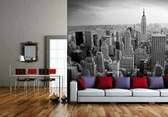 New York City Wallpaper Murals for Modern Living Room Ideas