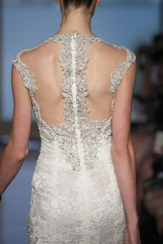 Ines Di Santo Fall 2014 collection #closeupback .35 Best Statement Back Wedding Gowns of 2014 | OneWed