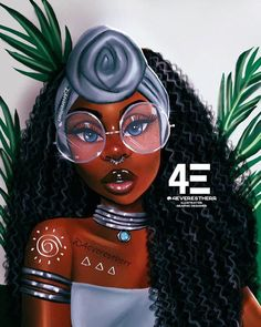 Fleur Noire iPhone Skin by foreverestherr Black Love Art, Black Girl Art, My Black Is Beautiful, Black Girls Rock, Black Girl Magic, Art Girl, Natural Hair Art, Pelo Natural, Drawings Of Black Girls