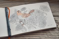 Oana Befort's Portfolio - sketchbook - I like the idea of the date stamp in the corner