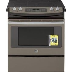 GE, 4.4 cu. ft. Slide-In Electric Range with Self-Cleaning Convection Oven in Slate, JS750EFES at The Home Depot - Mobile
