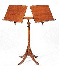 A Georgian Style Mahogany Quartet Music Stand - This looks