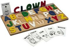 I Can Spell Wood Alphabet Puzzle