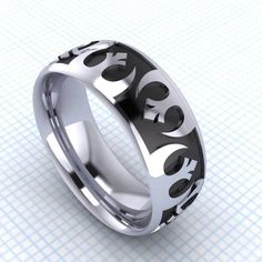 Star Wars | 11 Fabulously Geeky Wedding Rings Join the Rebel Alliance with this piece. Buy it here.