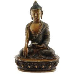 Handmade Copper Gautama Buddha Statue por DharmaLivingShop en Etsy, $875.00