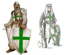 Knight of the Order of Saint Lazarus of Jerusalem. Medieval Life, Medieval Knight, Medieval Armor, Medieval Fantasy, Armadura Medieval, Knights Hospitaller, Knights Templar, Knight Orders, Saint Lazarus