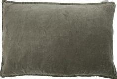 Kussen - Fluweel - Linnen - 45x45 - Olijfgrijs - MrsBLOOM  De perfecte aanvulling voor op je bank! Fluweel zachte en een fijne kleur,