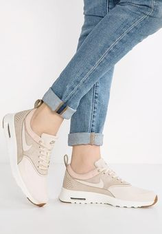 Nike Sportswear AIR MAX THEA PREMIUM - Sneakers laag - oatmeal/sail/khaki/medium brown - Zalando.nl