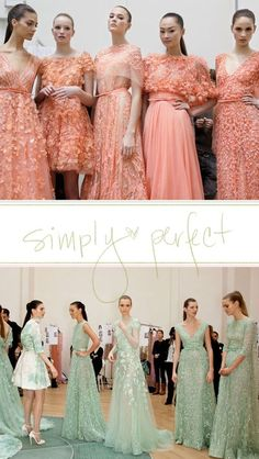 Peach and Mint Bridesmaid Dresses! by nelda