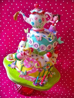 Fairy Tea cake for Phoebe's 2nd birthday   Flickr - Photo Sharing!