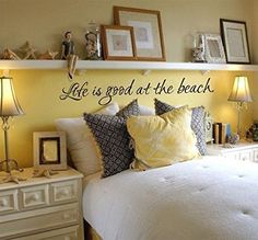 Life is Good at the Beach Vinyl Wall Words Decal Sticker Graphic