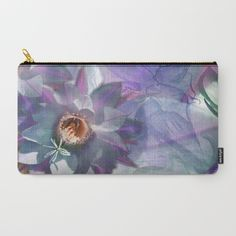Purple Blossom Cactusina Carry-All Pouch by crismanart Pouches, Carry On, Purple, Digital, Illustration, Photography, Stuff To Buy, Bags, Handbags