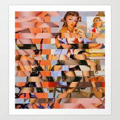 Glitch Pin-Up: Whitney Art Print by Wayne Edson Bryan - $20.00