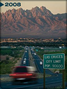 The Organ Mountains and Las Cruces; I sang an opera there.  Lovely place to visit in the winter!!