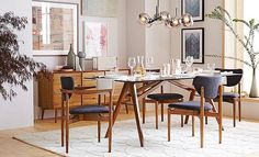 I love the west elm Mid-Century Glam Dining Room on westelm.com/