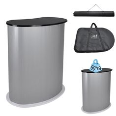 Yescom Portable Trade Show Podium Table Display Exhibition Counter Stand w/ Black Top Carrying Bag