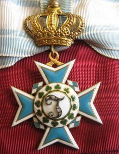 Germany Order of Thersia with diamonds in center. Gold and enamel
