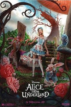 Zombies-in-Everything - Alice Underland Zombie Disney, Zombie Life, Zombie Art, Dark Disney, Zombies, Alice Madness Returns, Twisted Disney, Alternative Disney, Kunst Poster