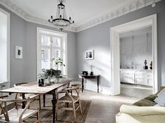 Get To Know The Best Scandinavian Living Room Design Ideas Living Room Scandinavian, Scandinavian Interior, Home Interior, Scandinavian Style, Minimalist Dining Room, Minimalist Kitchen, Grey Walls, Interior Design Inspiration, Inspiration Boards