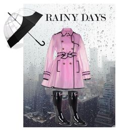 """Rainy Days"" by thenextcocochanel ❤ liked on Polyvore featuring RED Valentino and Hunter"