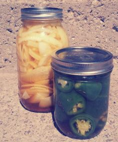 Fridge pickles are a great way to venture into pickling-they're simpler, and since you're not canning them they don't have quite as rigid instructions as hot water bath processed food. Be sure to let them set for a few days in the fridge to pick up more flavor. Another good thing about Fridge Pickles is that they stay crunchy.