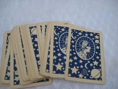 Vintage 1920s tarot cards Gypsy Lore Fortune by Endlessly Vintage- The backs of these are beautiful.