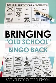 Taking a break from Kahoot, Quizlet etc. is a good thing!  Students love to play bingo to review for US History!  My students love it!  #activehistoryteacher #bingoreview