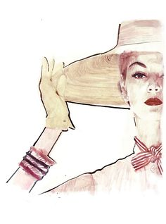 2013 Womens vintage fashion Illustration by BERTO MARTINEZ