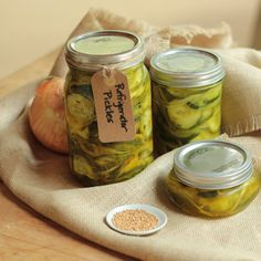 ... Refrigerator pickles, Fried green tomatoes and Refrigerator dill