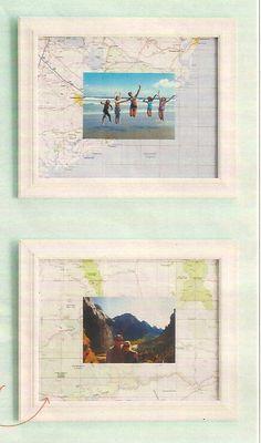 Map & Photo Frame