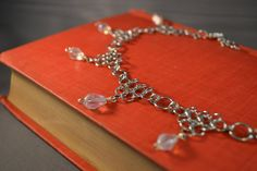 New to AthenasArmoury on Etsy: Teardrop Moonstone Crystal Daggers Chain Maille Necklace (35.00 USD)