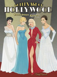 Golden Age of Hollywood Paper Dolls  - perfect gift ideas for #paperdoll collectors or fans of Audrey Hepburn, Marilyn Monroe, Gone With the Wind, Rita Hayworth, Elizabeth Taylor... {Hollywood Yesterday}