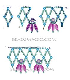 Free pattern for necklace Esmeralda - 2 -U need: pearl beads 3 mm pearl beads 5 mm pearl rice beads seed beads Beading Patterns Free, Seed Bead Patterns, Free Pattern, Free Beading Tutorials, Beaded Necklace Patterns, Beaded Jewelry Designs, Beaded Earrings, Beaded Necklaces, Bracelet Patterns