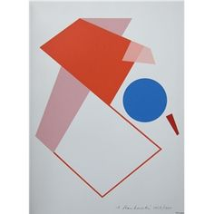 Anton Stankowski # abstract COMPOSITION #Orig.silkscreen, signed /dated, 1991