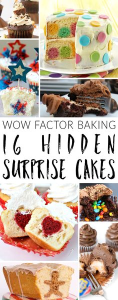 What's better than a fabulous homemade cake?  A fabulous homemade cake with a show-stopping hidden surprise inside!  Hidden surprise cakes come in all shapes and sizes, but they all have one thing in common: wow factor. Here's my selection of amazing recipes to take your baking to a whole new level of impressive.
