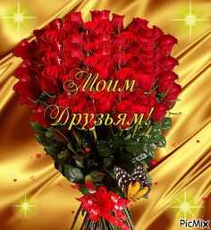 Моим друзьям! Vote Sticker, Gifs, Rose, Christmas Wreaths, Holiday Decor, Blessings, Flowers, Wallpaper Backgrounds, Pink
