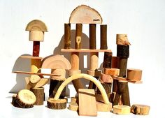 50 natural tree building blocks, Montessori inspired wooden toy, Wood personalized toys, Natural organic blocks, Waldorf first toddler toy Wooden Building Blocks, School Design, Childcare, Kids Toys, Bookends, Classroom, Shapes, Unique Jewelry, Boys