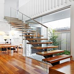 [Hot Item] Modern Staircase Design Indoor Wooden Steps for Apartment Staircase Handrail, Wooden Staircases, Wood Stairs, House Stairs, Home Stairs Design, Interior Stairs, House Design, Wooden Staircase Design, Interior Architecture