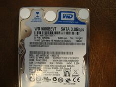 WESTERN DIGITAL WD1600BEVT-88ZCT0 DCM:FHNT2BBB SATA 160GB - Effective Electronics