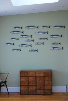 Mackerel Fish Wall Art Hangings Shoal 4 Fish
