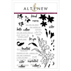 RESERVE Altenew EXTRA SPECIAL Clear Stamp Set